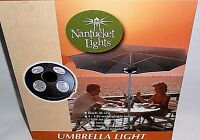 Umbrella Light By Nantucket Lights 36 Led Lights Brown