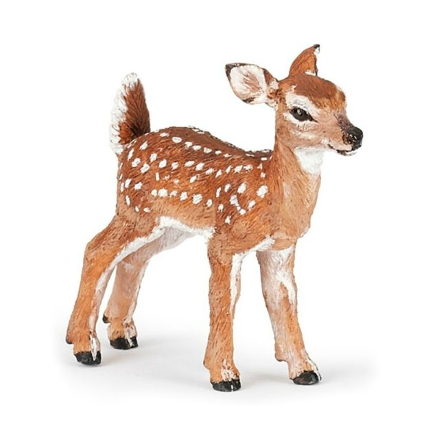 WHITE TAILED FAWN Replica # 50219 ~ New for 2017 ~FREE SHIP/USA w/ $25.+ Papo