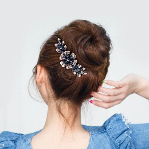 Women Flower Hair Comb Pin Slide Clip Hair Barrettes Bridal Hair Accessories