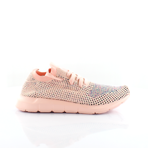 Details about Adidas Originals Swift Run Primeknit Womens Lace Up Trainers Pink CG4134