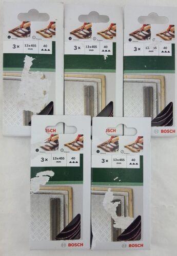 """13 x 455mm Schleifband-Set für Black+Decker Powerfile /""""Auswahl/"""" P1D Bosch 15tlg"""