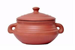 Terracotta-Indian-Cooking-Kadai-Earthenware-Clay-Wok-Skillet-With-Lid-amp-Handle