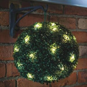 Christmas Bush Lights.Details About Solar Powered Led Light Hanging Bush Topiary Ball Sun Lighting Garden Yard Pool