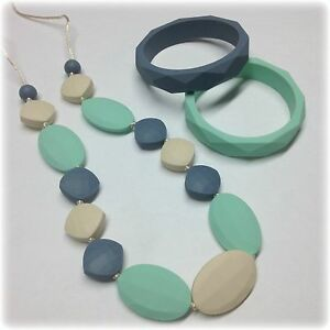 Image Is Loading Teething Necklace Nursing Jewelry Silicone Baby Teether Bracelet