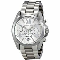 Michael Kors Ladies Bradshaw Watch Silver Strap Dial Chronograph MK5535