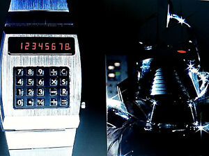 OROLOGIO-WATCH-BATTLESTAR-GALACTICA-VINTAGE-1978-NOS-TV-SPACE-CALCULATOR-LED-RED