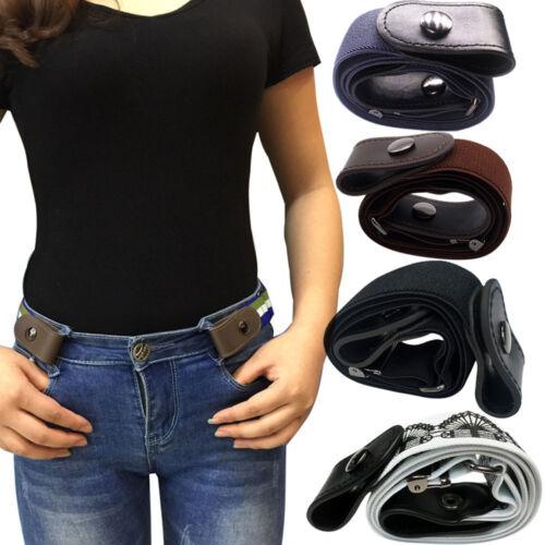 Women Men Xmas Gift Buckle-free Elastic Belt for Jeans No Bulge Hassle Elastic