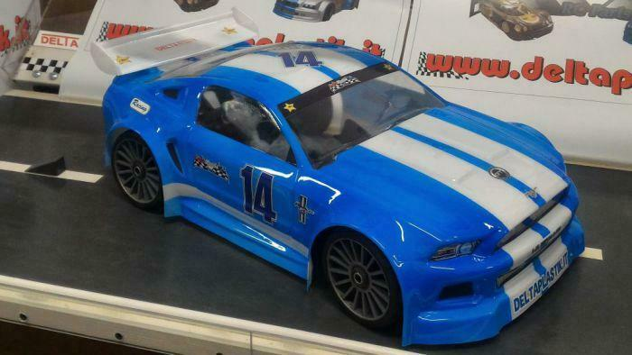 0175 Mustang 1 8 GT 325mm body Clear Hobao Serpent Cobra Traxxas Slash
