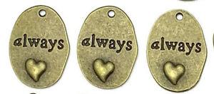 48 Quote Charms Antiqued Bronze Word Pendants Assorted Lot Bulk Wholesale