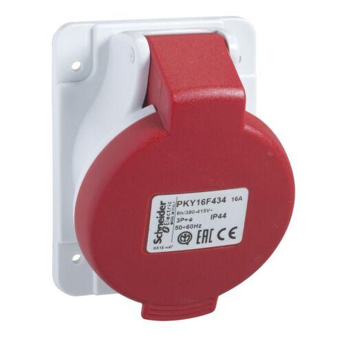 socle de prise industrielle coudée 16 A 3P+N -380-415 V PKY16F435 lot de 2