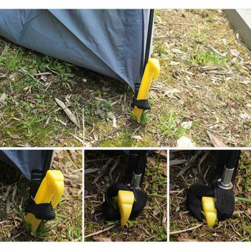 3Pcs Tent Stakes Pegs Outdoor Camping Tarp Ground PP Plastic Spiral Screw Nails
