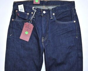 Polo Ralph Lauren Men's Vintage 67 Classic Fit Navy Denim Jeans W30 L30