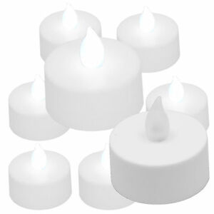 (6) COOL WHITE Flickering Flameless LED Lights Votive Candle Tea Light Candles