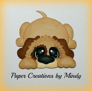 Details about CRAFTECAFE MINDY PUPPY DOG PET premade paper piecing for  scrapbook page album