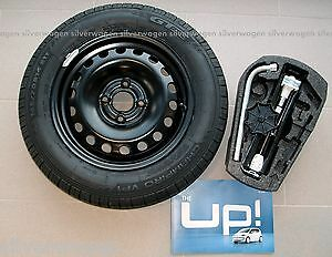 Genuine-VW-Up-Skoda-Citigo-Seat-Mii-Spare-Wheel-and-Tool-Kit-WITH-TYRE