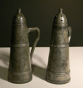Image Is Loading Rless Pewter Salt And Pepper Shakers 2764