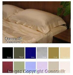 2 Pcs Standard 100 Charmeuse Silk Pillow Shams 3 Color Ebay