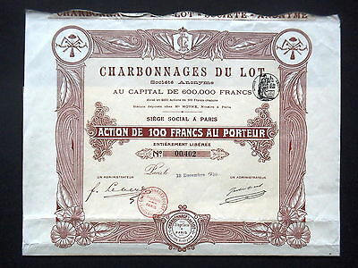 Lot de 5 Société Franco-Russe Produits Chimiques /& Explosifs Action 100 Francs