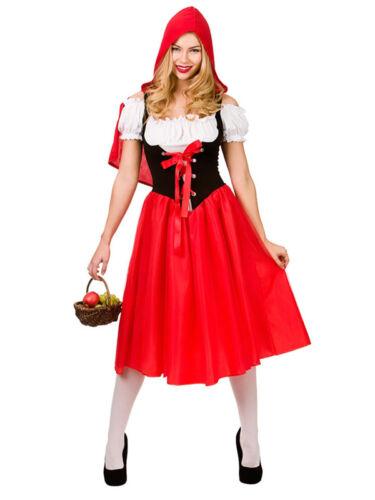 Da Donna Little Red Riding Hood Costume Adulto Fairytale Costume Taglie UK 6-28