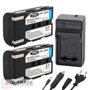 6cc4b70d5a5f 2000mAh SB-LSM80 Battery / Charger For SAMSUNG SC-D SC-DC VP-D DP-DC ...