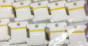 50X Plastic Thread Bobbins for Embroidery Cross Stitch Floss Craft Storage