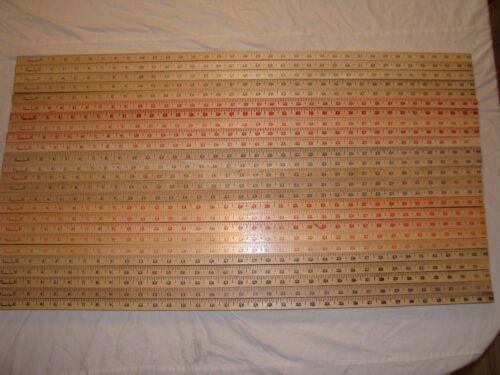 25 Square Yardstick Wood Wooden Ruler Lot Advertising Sign Color Art Craft