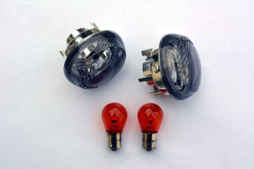 schwarze Blinker Gläser Kawasaki VN 1700 Classic Tourer smoked signal lenses