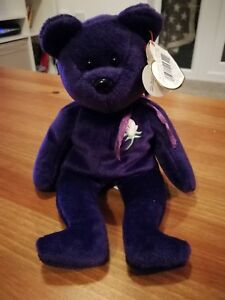 1st Edition TY Princess Diana purple bear Immaculate condition(Rare ... 647c3f06228