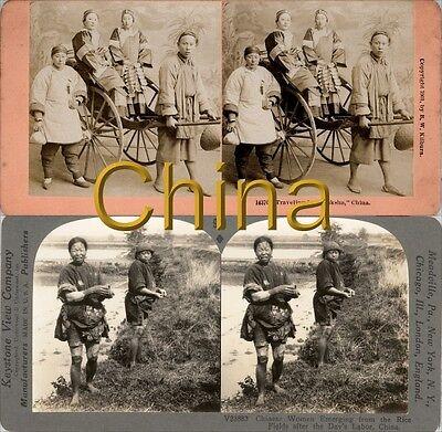 18 Stereofotos Über China Peking Um 1900 Serie 1