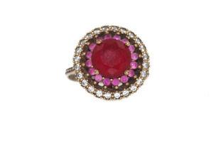Antiker-Ring-aus-925er-Silber-mit-vielfaeltigen-Zirkonia-Gr-58