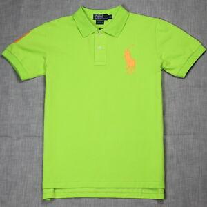 New Polo Shirt Ralph Lauren Custom Fit Big Pony Men 39 S Lime