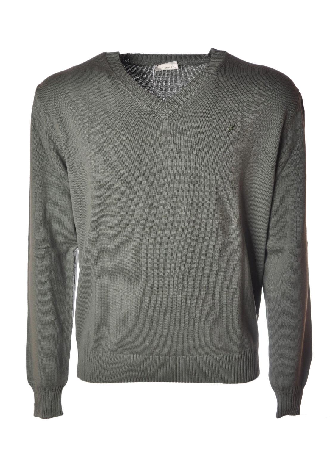 Heritage  -  Sweaters - Male - Grün - 4639122A185124