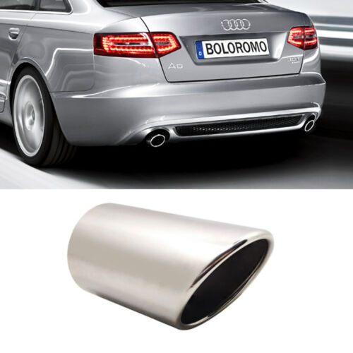Chrome Exhaust Pipe Muffler Trim Tail Tip Stainless Steel Fits Audi A6 4F C6 New