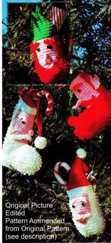 Benefits PHAssocia +Totes Crochet Christmas Santa or Elf Stocking Pattern-Loopy