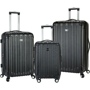 Travelers-Club-Luggage-Madison-3-Piece-2-in-1-Hardside-Luggage-Set-NEW