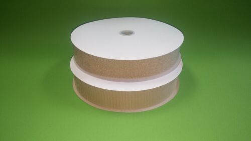 "1 Hook & 1 Loop Fastening Tape Peel & Stick 2"" Wide Beige 25 yd. Roll New"