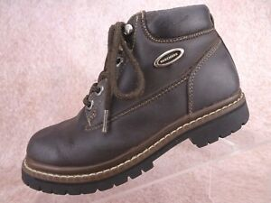 73cfb1aecd45 Image is loading Vtg-90s-Skechers-Brown-Leather-Chunky-Hiking-Jammers-