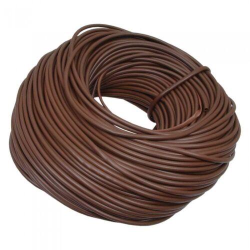 Nuevo Funda de PVC 4mm marrón aislamiento 0.4mm de espesor Elija Longitud 1-100 metros