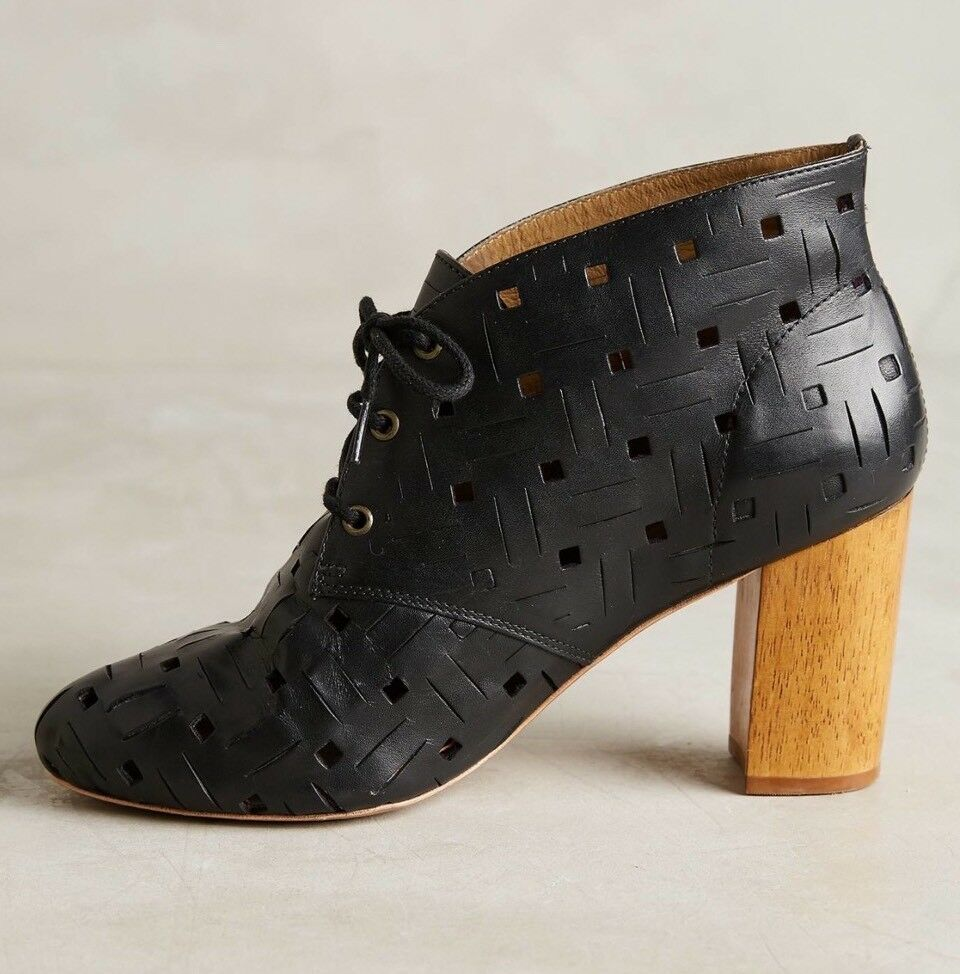 NEW Anthropologie Nina Payne Nico Boots Size 40 40 40 Black Cut Out Leather a0ade4