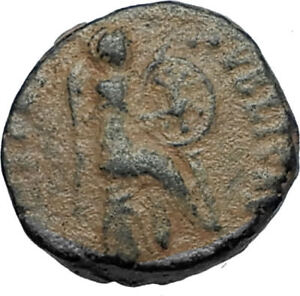 EUDOXIA-Arcadius-Wife-401AD-Authentic-Ancient-Roman-Coin-VICTORY-CHI-RHO-i67531