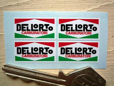 DELLORTO Set of 4 25mm Stickers Ducati Alfa Vespa etc