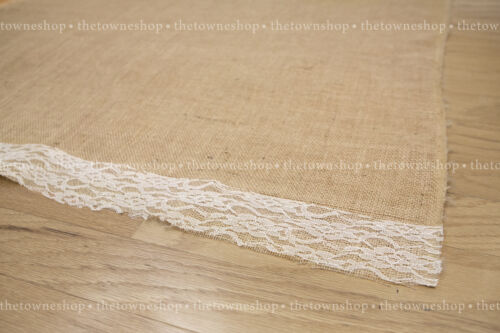 Burlap Aisle Runner 40wide x 20-25-30-50ft or custom Lengtht with or w/out lace