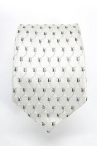 Valentino-Mens-Classic-Tie-White-Silver-Abstract-Print-Silk-One-Size