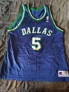 innovative design 525b0 cd087 Details about Vintage Champion Jason Kidd Dallas Mavericks Away Jersey No  flaws Never Worn