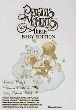 Holy Bible, New King James Version: Precious Moments Baby Bible White
