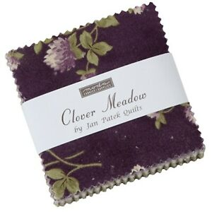 Clover-Meadow-Mini-2-5-034-Charm-Pack-by-Jan-Patek-Quilts-for-Moda-Fabrics