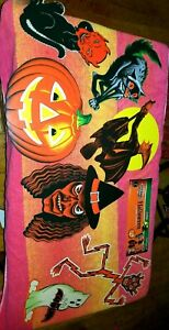 NEW-7-REPROS-VINTAGE-BEISTLE-HALLOWEEN-BLACK-CATS-WITCHES-GHOST-MAN-1920s-60s