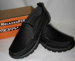 95582ea680eaee SKECHERS Men Relaxed Fit Superior Gains Leather Slip-On Loafer Shoes ...