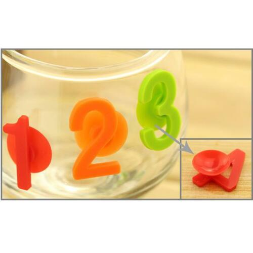 14pcs//pack Cup Wine Glass Drink Silicone Label Tag Bottle Suction BS