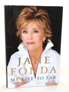 Jane-Fonda-SIGNED-Book-034-My-Life-So-Far-034-1st-Ed-1st-Print-Legendary-Actress